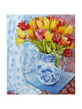 Red and Yellow Tulips in a Copeland Jug Giclee Print by Joan Thewsey