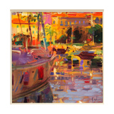 Southern French Port Giclee Print by Peter Graham