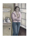 Woman Smoking, 1996 Giclee Print by Ruth Addinall