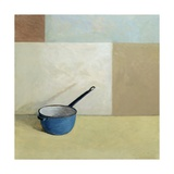 Blue Saucepan Giclee Print by William Packer