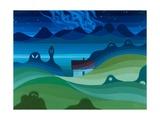 Moonlit Landscape, 1997 Giclee Print by Emil Parrag