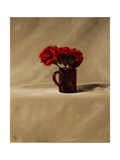 Red Carnations Giclee Print by James Gillick