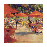 Le Cafe Du Jardin Giclee Print by Peter Graham