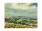 Late Summer on the Downs at Poynings, 1995 Giclee Print by Margaret Hartnett