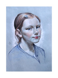 Portrait of Alice Fry Aged 10, 2008 Giclee Print by James Gillick