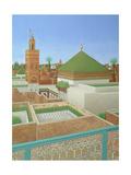Larry Smart - Rooftops, Marrakech Digitálně vytištěná reprodukce
