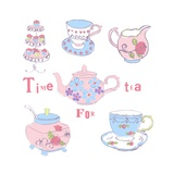 Afternoon Tea Giclee Print by Anna Platts