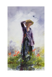 Elsie in the Garden Giclee Print by John Lidzey
