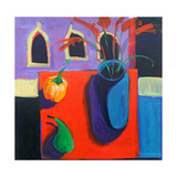 Green Pear Giclee Print by Paul Powis