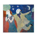 Moon on a Stick, 2004 Giclee Print by Susan Bower