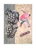 Skate, 2009 Giclee Print by Jenny Barnard