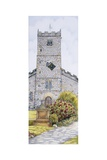 St Mary's Church Clock, Kirkby Lonsdale, Cumbria, 2009 Giclee Print by Sandra Moore