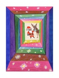 Santa and His Reindeer Giclee Print by Stanley Cooke