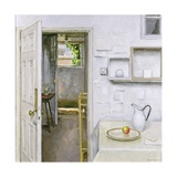 Open Doors with Still Life and Letter, 2004 Giclee Print by Charles E. Hardaker