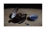 Grouse and Blueberries, 2008 Giclee Print by James Gillick