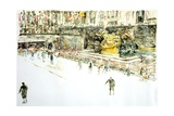 Rockefeller Center, Skaters Giclee Print by Anthony Butera