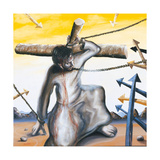 Stations of the Cross III: Jesus Falls a First Time, 2002 Giclee Print by Chris Gollon