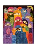 Laila Shawa - The Hands of Fatima, 1989 Digitálně vytištěná reprodukce