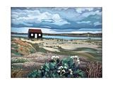 Hut, Rye Harbour Giclee-trykk av Anna Teasdale