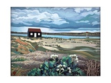 Hut, Rye Harbour Giclee Print by Anna Teasdale
