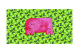 Pig with Green Apples, 2003 Giclee Print by Julie Nicholls