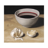 Garlic and Wine Giclee Print by James Gillick