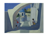Handstand, Santorini Giclee Print by Andrew Macara