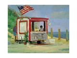 Hot Dog Stand Giclee Print by Sarah Butterfield