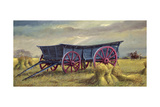 The Blue Wagon Giclee Print by Dudley Pout