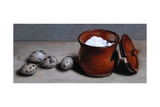 Clay Pot and Quail Eggs, 2008 Giclee Print by James Gillick
