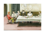 Annunciation at Table, 2006 Giclee Print by Caroline Jennings