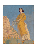 The Yellow Dress, C.1912 Giclee Print by Augustus Edwin John