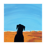 Black Dog in Chestertown, 1998 Giclee Print by Marjorie Weiss