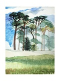 Wiltshire Pines, 1989 Giclee Print by Anna Teasdale