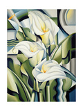 Cubist Lilies, 2002 Giclee Print by Catherine Abel
