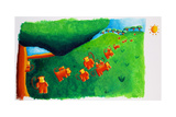 Monkeys Leaving Tree, 2002 Giclee Print by Julie Nicholls