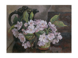 Blossom with Coffee Pot Giclee Print by Mary Nancy Skempton