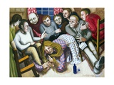 Mary Anointing Jesus' Feet, 1998 Giclee Print by Dinah Roe Kendall