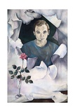 Boy with Rose, 1959 Giclee Print by Bettina Shaw-Lawrence