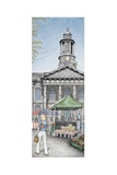 Market Square Clock, Lancaster, Lancashire, 2009 Giclee Print by Sandra Moore