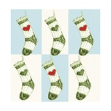 Christmas Stocking Giclee Print by Anna Platts