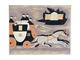 Mailcoach, Ad 1784, 1935 Giclee Print by John Armstrong