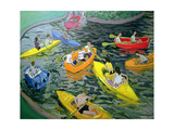 Canoes, Wickstead Park Giclee Print by Andrew Macara