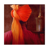 Wine Waiter at the Taj Giclee Print by Lincoln Seligman