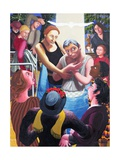 Baptism of Jesus, 2006 Giclee Print by Dinah Roe Kendall