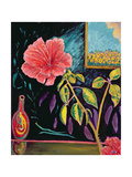 Hibiscus with Vase Giclee Print by Patricia Eyre