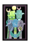 Standards (Alams in Arabic) 1992 Giclee Print by Laila Shawa