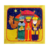 Three Kings and Camel Giclee Print by Linda Benton