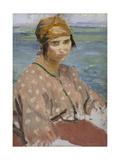 Dorelia Wearing a Turban, C.1912 Giclee Print by Augustus Edwin John