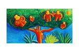 Monkeys in a Tree, 2002 Giclee Print by Julie Nicholls